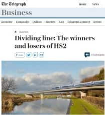 Daily Telegraph web on HS2 and MML electrification