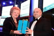 Jennifer, Lady Gretton receives her award from Chamber Chief Executive Scott Knowles
