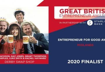 Derby swap shop become finalists at the Great British Entrepreneur Awards